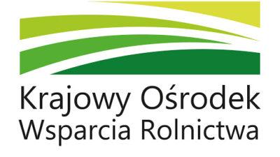 Na zdjeciu znajduje się logo Krajowego Ośrodka Wsparcia Rolnictwa