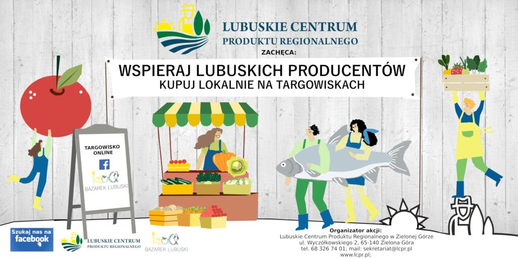 baner reklamowy lubuskiego centrum produktu regionalnego wspieraj lokalnych producentów żywności - kupuj lokalnie