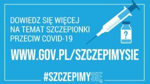 Baner informujący o szczepieniu na COVID-19