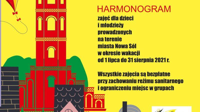 plakat wakacje w mieście, wizualizacja miejskiej architektury