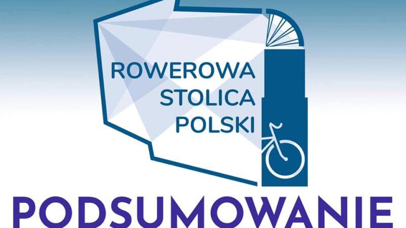 Na zdjęciu napis rowerowa stolica Polski - podsumowanie