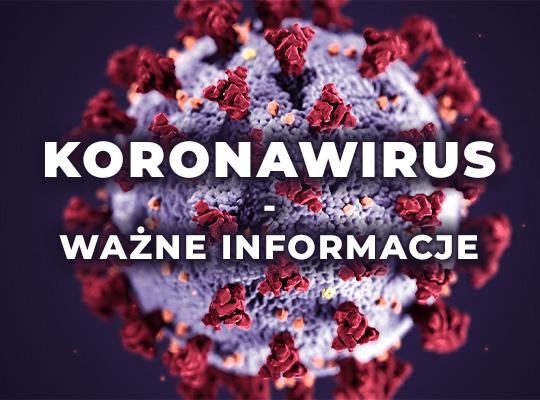 plakat koronawirus - ważne informacje
