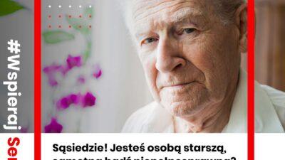 Na zdjęciu znajduje się starszy pan