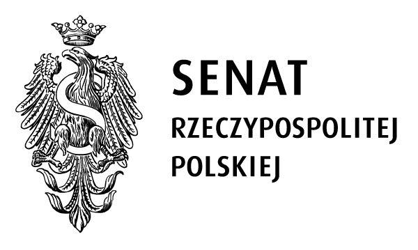 logo senatu RP: po lewej stronie orzeł z widoczną literą S oraz napis senat rzeczypospolitej polskiej