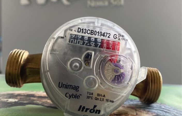 na zdjęciu licznik pomiaru wody