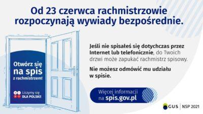 plakat i narodowym spisie powszechnym