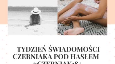 Na obrazku widać kobietę, która leży tyłem i patrzy na morze, ma na głowie kapelusz, a obok jest djęcie kobiety, która smaruje ciało kremem.