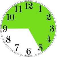 zegar pokazujący czas